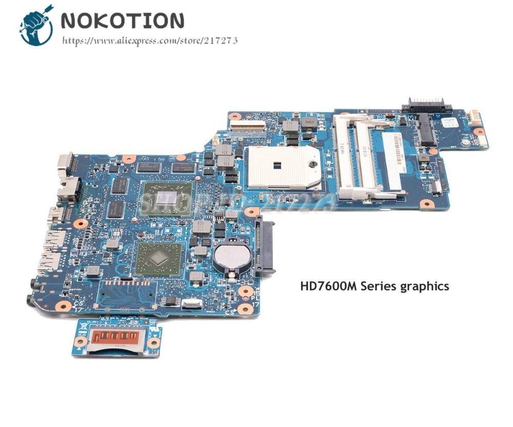 NOKOTION For Toshiba Satellite L870D C875D C870D Laptop Motherboard 17.3'' PLAC CSAC DSC H000043590 H000041580 MAIN BOARD HD7600 original plabx csabx uma main board h000043610 for toshiba c870d c875d laptop e2 1 7g processor m3l system integrated graphics