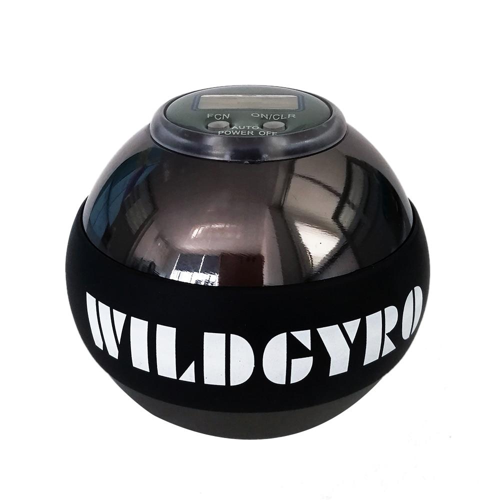 Wrist Power Ball Gyroscope Ball Metal Arm Muscle Relax Exerciser Strengthener Rotor Gym Hand Exerciser Gyro Ball Meter Counter