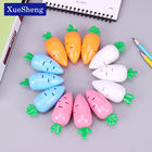 Cute Kawaii Cartoon Creative Carrot Molding Plastic Pencil Sharpener for Kids Novelty Item School Supplies Stationery