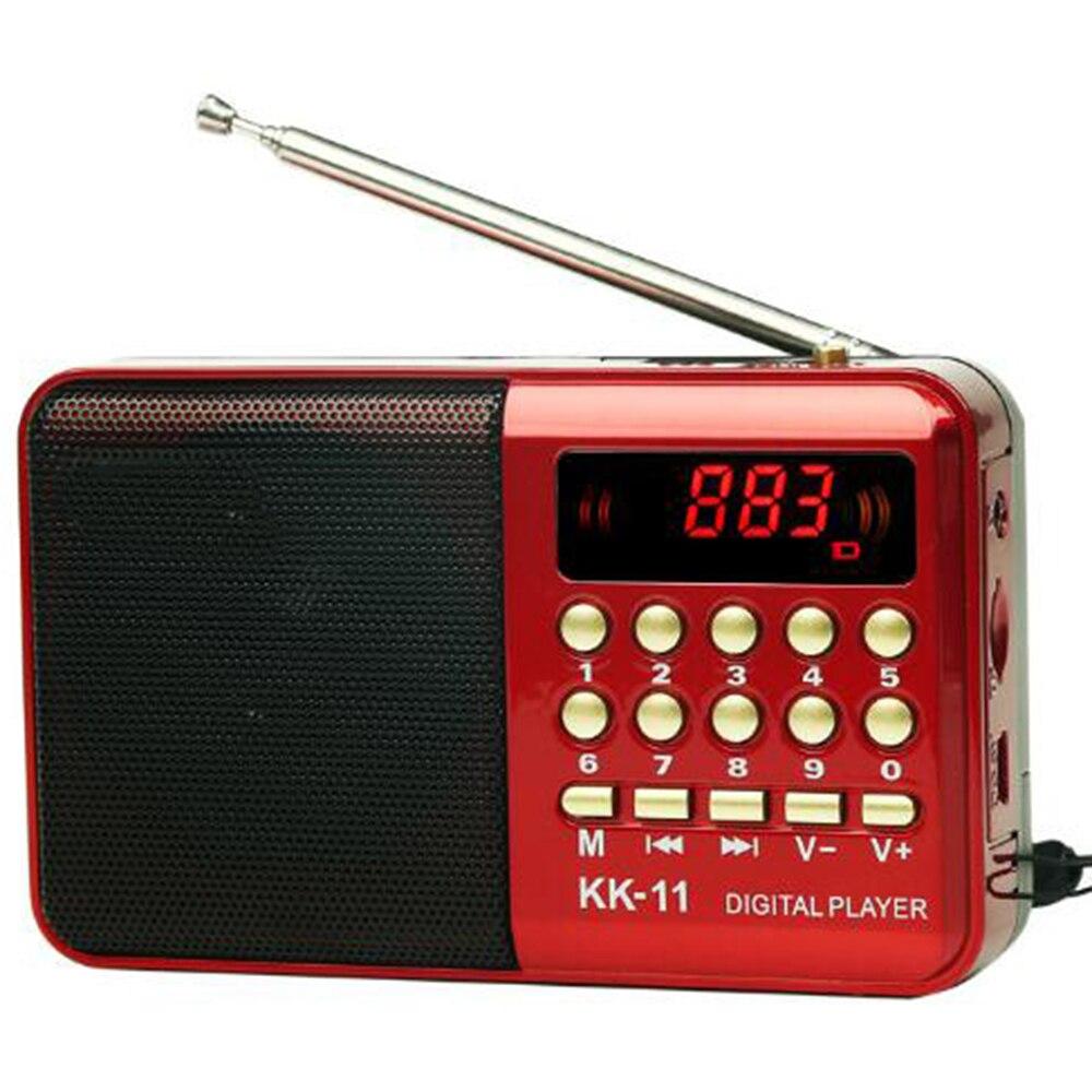 Цифровое радио fm портативный мини FM радио динамик музыкальный плеер телескопическая антенна Handsfree карманы приемник Открытый Спорт KK-11