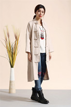 womens winter jackets and coats women parka winterjas dames pure Linen Kung Fu Coat Casual Outerwear macaroon colors