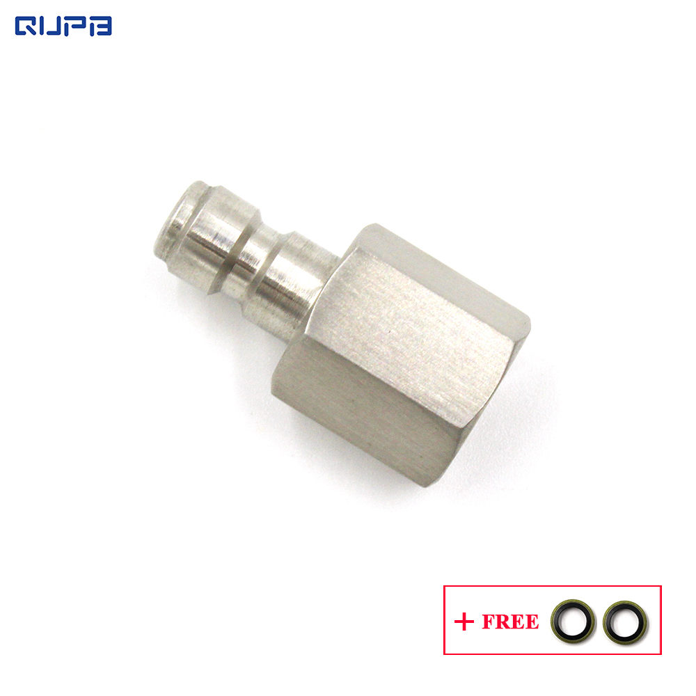 QUPB  Paintball Quick Connect Plug 1/8'' BSPP Female Thread 300bar Perssure Stainless Steel PTP001