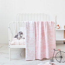 Baby Blankets Newborn Cute Bicycle Style Blanket Soft Warm Knitted Baby Swaddle Bath Towel Children Toddler Bedding Blankets цена в Москве и Питере