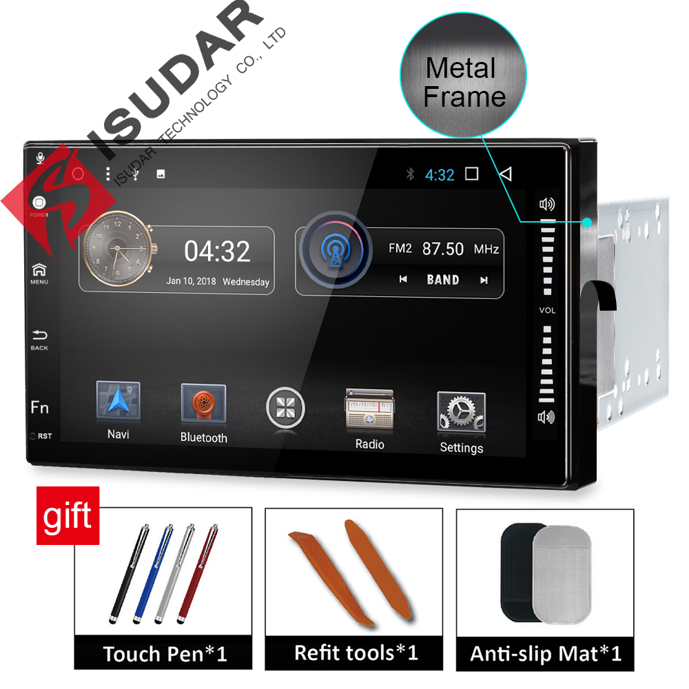 Isudar Universale Car Multimedia player 2 din android 7.1.1 7 pollice Per Volkswagen/Passat b5/Toyota/corollaNissan /Tiida/QASHQAI