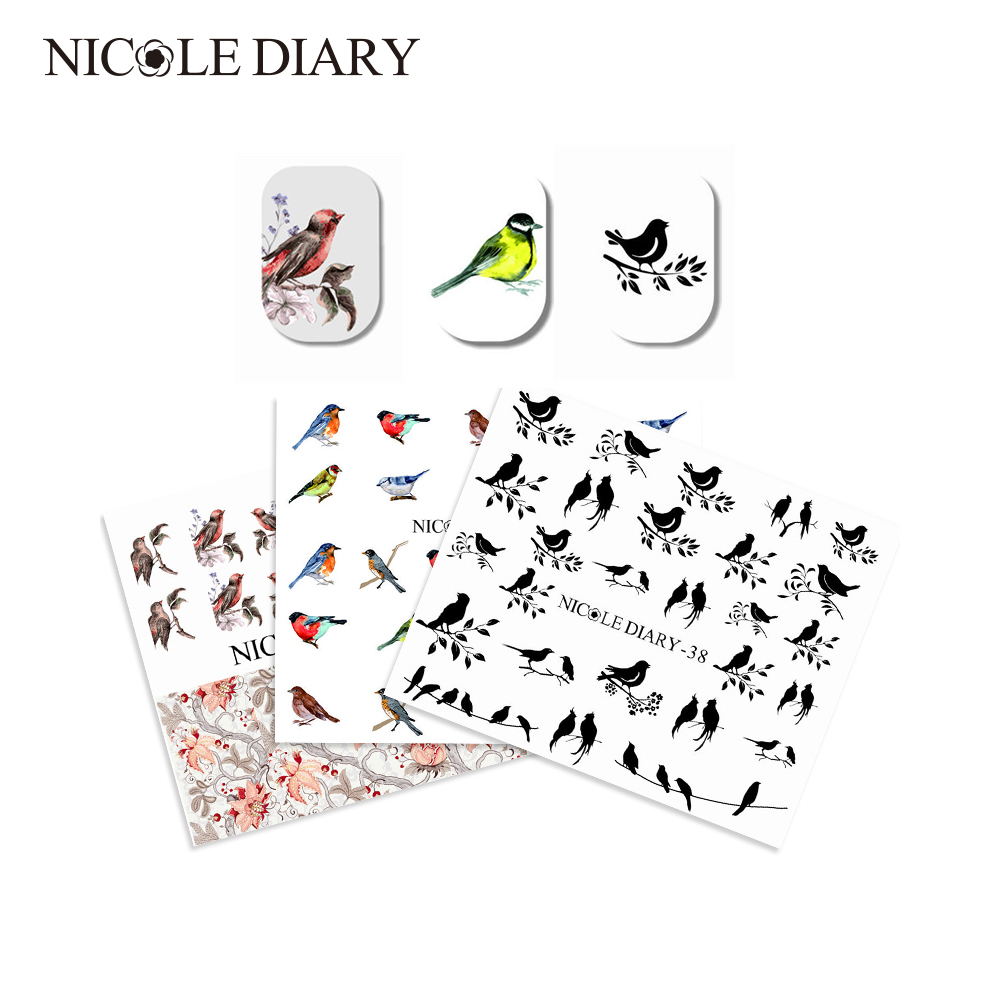 3 Sheets Water Decal Nail Art Transfer Stickers Set Flower Animal Pattern DIY Manicure Sticker Tips Decorations Styling Decal 1 sheet beautiful nail water transfer stickers flower art decal decoration manicure tip design diy nail art accessories xf1408