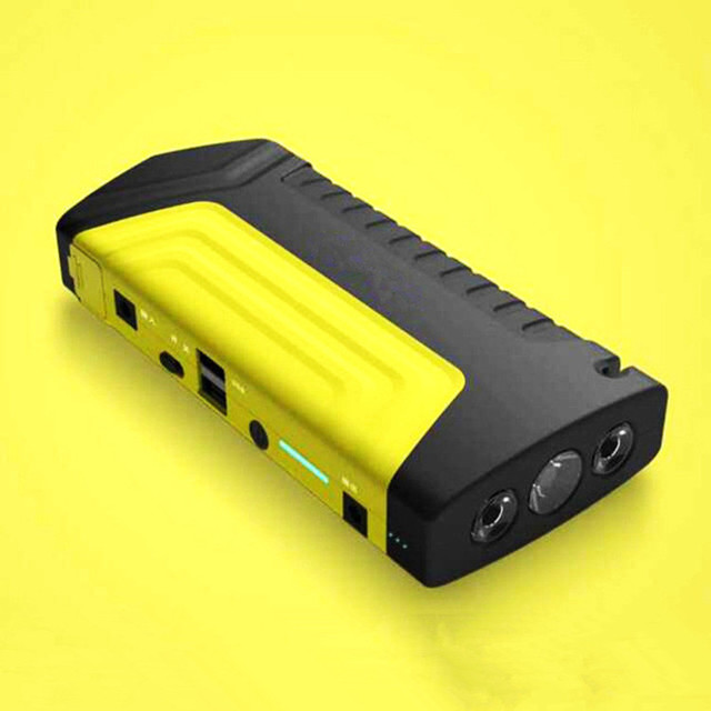 2017 New Portable Mini Jump Starter 7 in1 Car Jumper 12V Booster Power Battery Charger Phone Laptop Power Bank Yellow Color