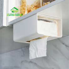 JiangChaoBo Kitchen Paper Storage Box Paste Wall-mounted Towel Holder Toilet Tissue