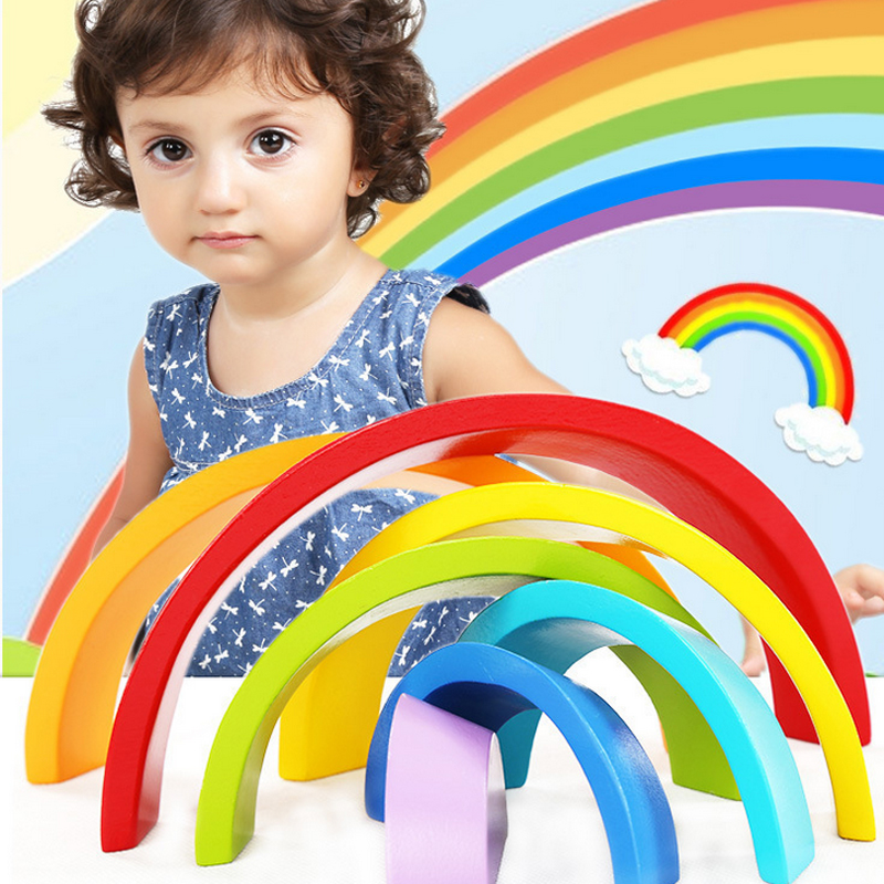 1 Piece Colorful Rainbow Arch Bridge Building Blocks Education Toys Rubber Wood Environmental Protection Birthday Gifts For Kids pf 03 pf03 printhead resetter for canon ipf500 ipf510 ipf600 ipf605 ipf610 ipf710 ipf720 ipf810 ipf815 ipf820 ipf825 ipf5000