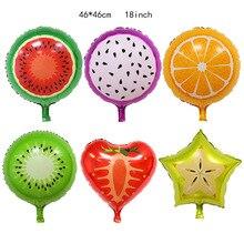 18inch Fruit Foil Helium Balloon Happy Birthday Party Decoration Wedding Summer  Supplies Kids Toy