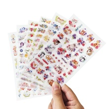 6 Sheet/lot New Lovely Cat And Flower Stickers For Diary Scrapbook Book Decoration DIY Personalized Photo Album Cartoon Stickers