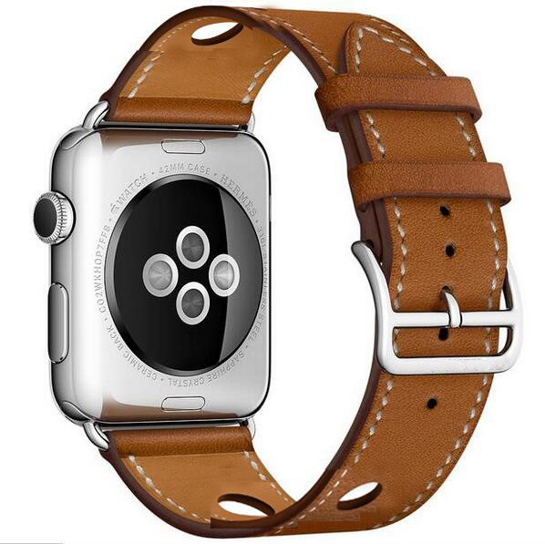 Genuine Leather loop For Apple Watch Band Single Tour