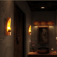 Chinese Antique bamboo wall lamp restaurant club leisure teahouse pub dining room aisle corridor cafe lamp bra wall sconce