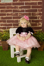 60cm High-end vinyl silicone reborn baby doll toy newborn girl babies princess doll birthday holiday gift bedtime play house toy