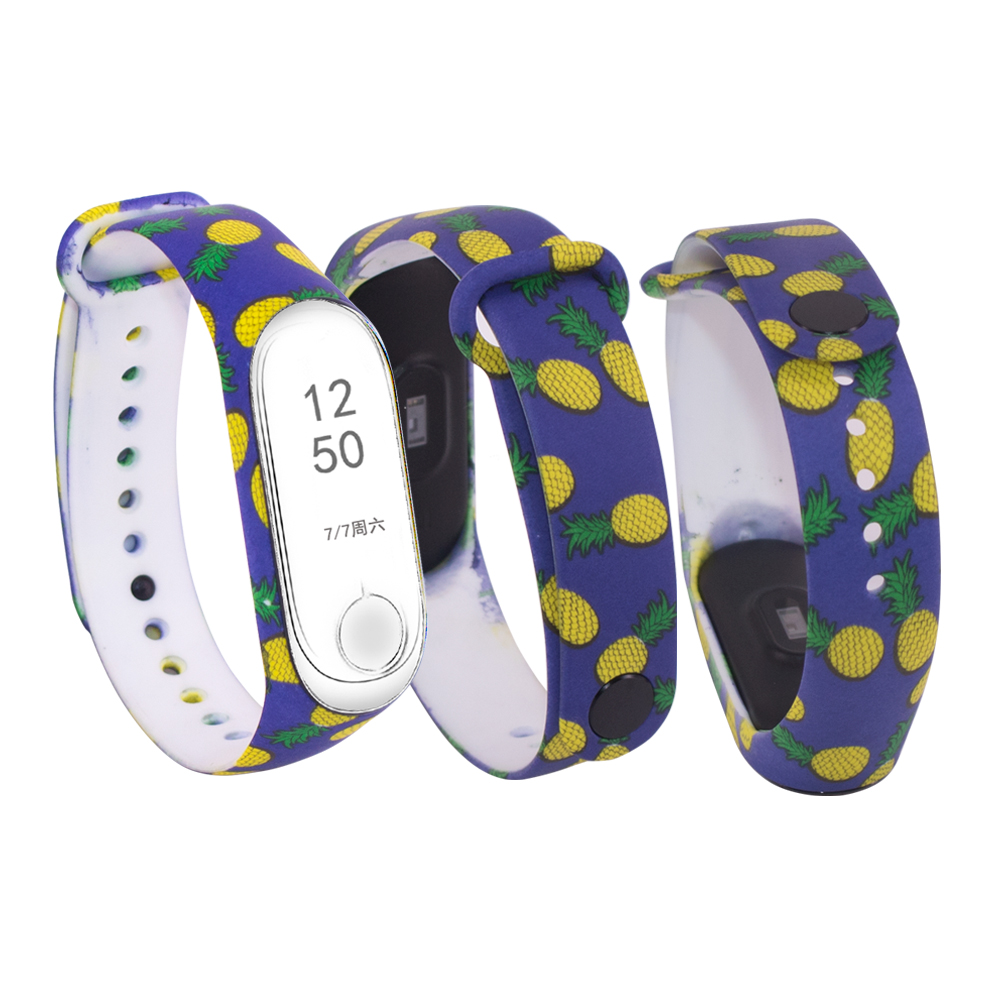 ZUCZUG NEW for Xiaomi Mi Band 4 Painted Sport Strap watch Silicone wrist strap For mi band 4 accessories bracelet Miband 4 Strap in Smart Accessories from Consumer Electronics