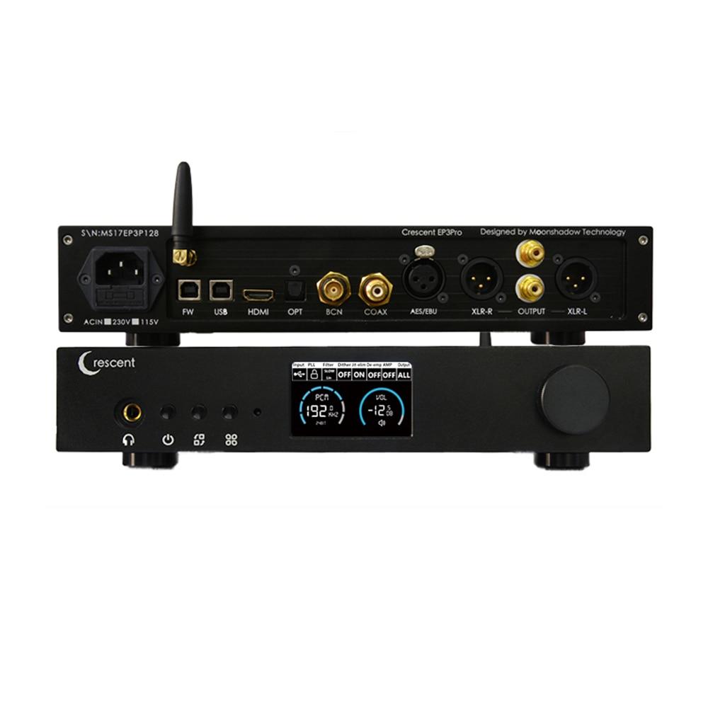 Digital-analog-wandler GemäßIgt Crescent Ep3pro Es9038pro Volle Ausgewogene Xmos Dsd 512 Hifi Xlr Rca Bluetooth Dac Decoder Kopfhörer Verstärker Sparen Sie 50-70% Tragbares Audio & Video