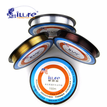Free shipping 150M 3 color Ilure Brand Top Grade 100% Japanese Fluorocarbon fishing line Monofilament Carp Wire leader
