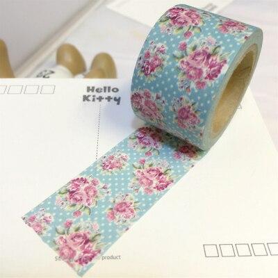 Hermosa 30mm * 10 m cinta de papel washi alta calidad/celeste rosa fondo adhesiva cinta del washi japón