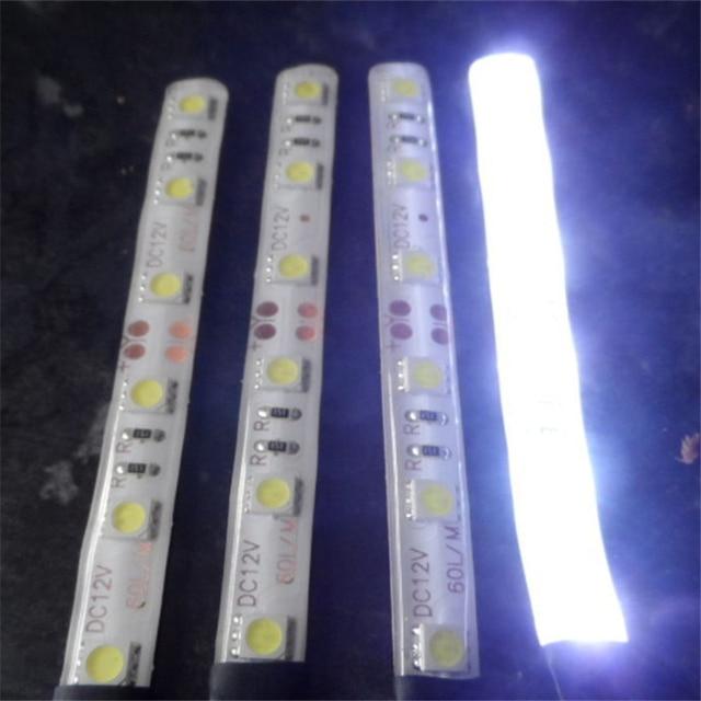 LED 10 см автомобиля Двигатель автомобиля Гибкие Водонепроницаемый полосы света 12 В светодиодные панели