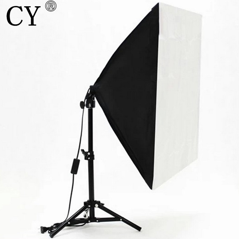 Photography Studio Lighting Kits Foldable 50x 70cm Power Softbox with 68cm Light Stand Photo Studio Kits Accessories Hot Selling
