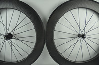 Carbon Fiber Bike 25mm Width 80mm Deep Dimple Finish Clincher Wheels 700C Road Bicycle Wheelset