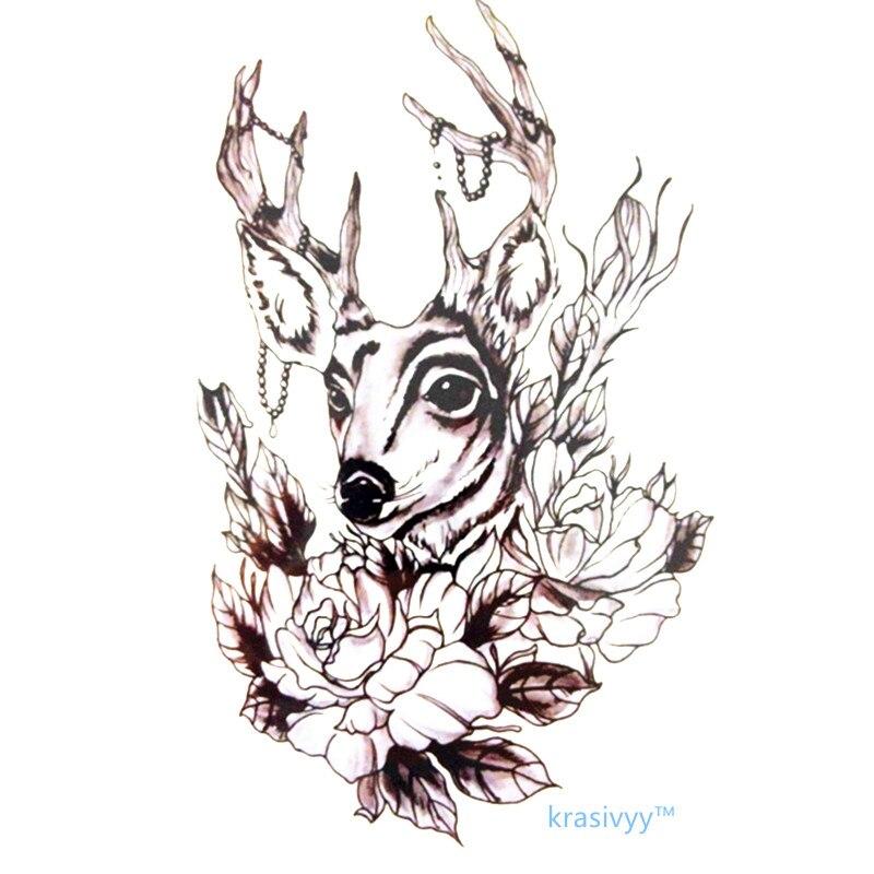 New Simple Desain Mode Deer Dan Bunga 21x15 Cm Berukuran Sexy Keren