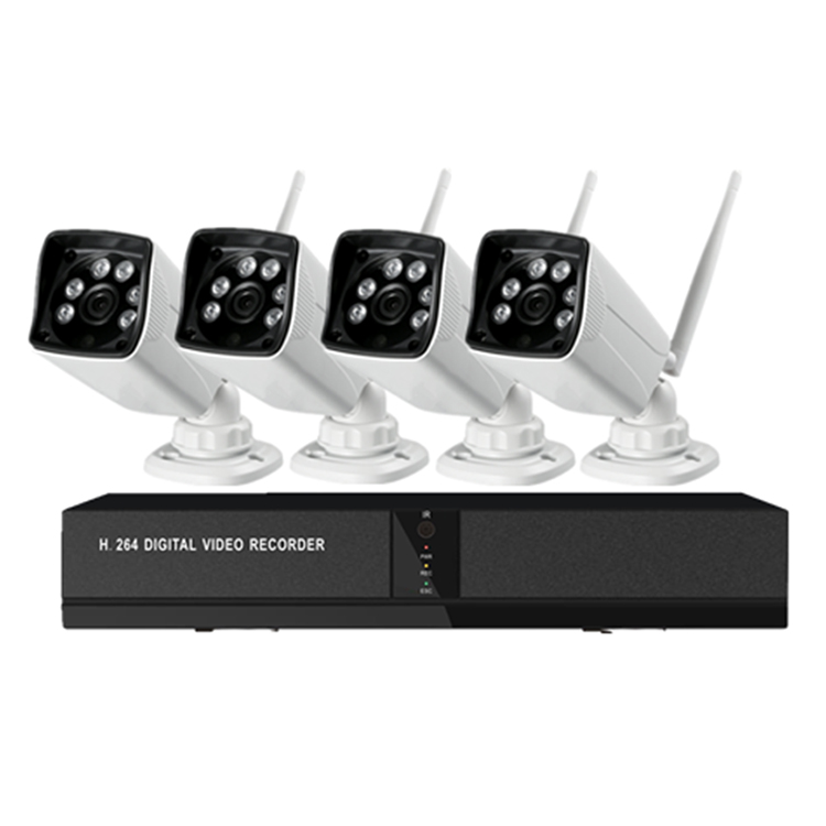 CWH 4CH 2MP HD Wireless NVR Kit P2P 720P Indoor Outdoor IR Night Vision Security IP Camera WIFI CCTV System HDD Optional