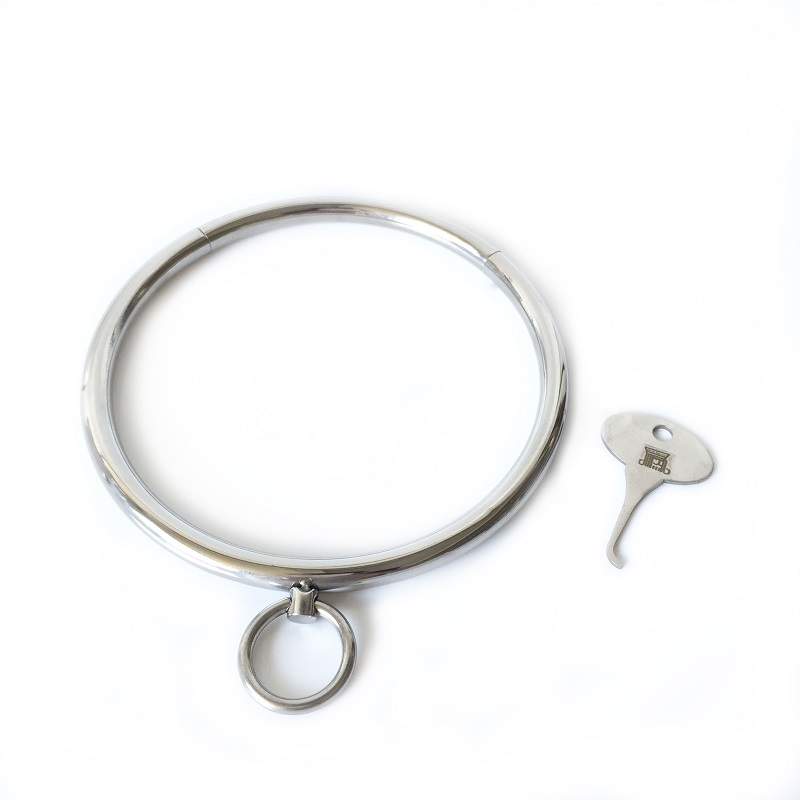 New key stainless steel metal bdsm bondage collar slave restraint SM erotic couples adult game Sex toys for man woman