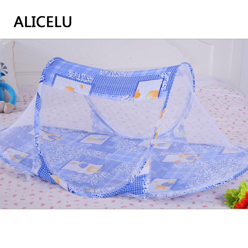 ALICELU Baby Bed Net Folding Mosquito Nets Baby Bedspreads Premium Ship Type Mosquito Nets Outdoor Bed Portable Mongolian Yurt