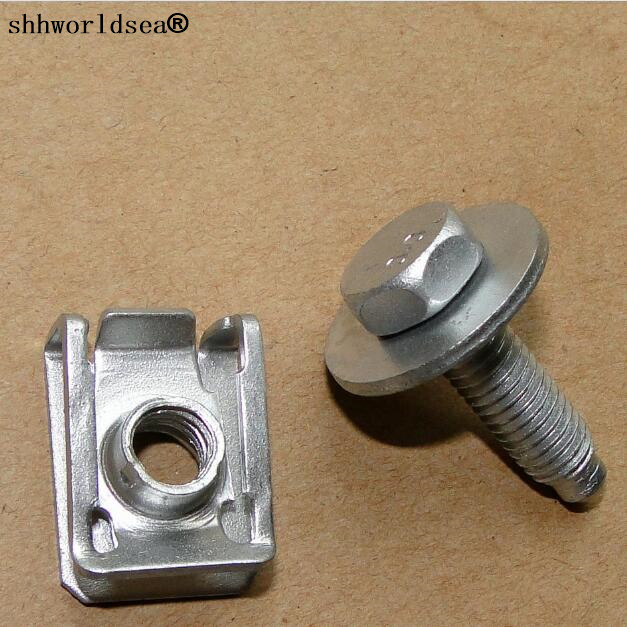 Shhworldsea auto de metal clipe de zinco sliver clipe de ferro parafuso para auti para benz
