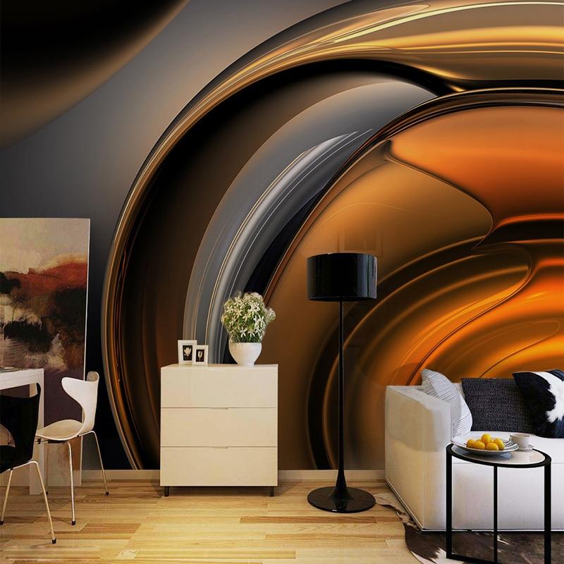 Европейский стиль, ретро металлические глянцевые обои кофейной линии, Современные Абстрактные Художественные обои для гостиной, кафе, ресторана, фотообои 3D