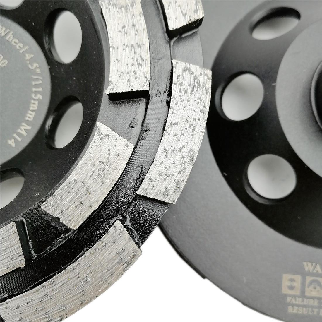 SHDIATOOL 1pc Diamond Double Row Grinding Cup Wheel for Concrete Masonry Granite