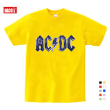 ACDC Baby Kids Fashion Funny Clothes  Rock Design T-Shirt Boys and Girls Short Sleeves Casual Tee Tops Clothing 8T