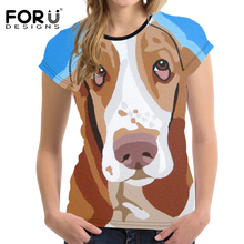 FORUDESIGNS t shirt Women Funny tshirt T shirts 2018 Pug Tear Plus Size Clothing tee Feminist Femmes Tops  Sad