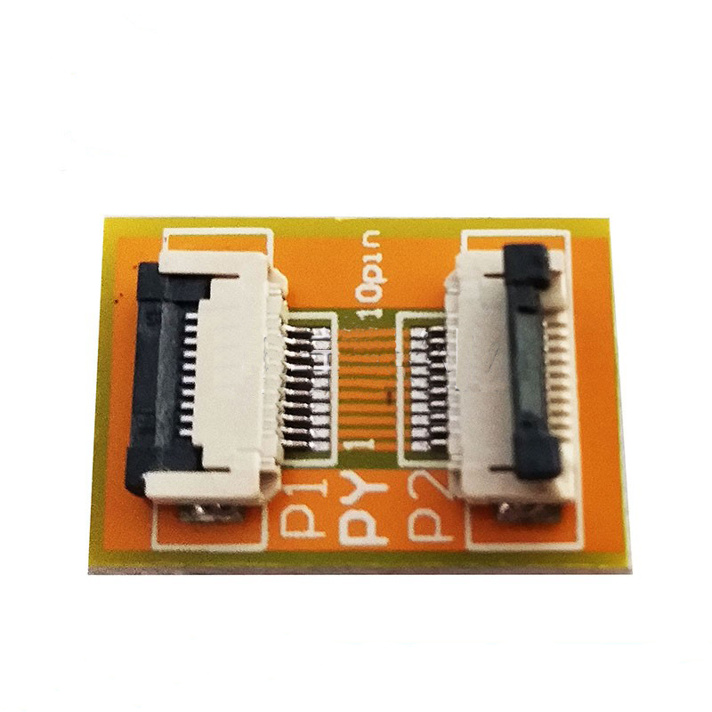 Free Shipping 2PC Flexible Flat Cable FFC FPC 10P Extension Board With 0.5mm Connector Soldering  Adapter PCB Board 10pin