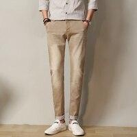 Jeansy Męskie 2017 Nowa moda jesień męskie dżinsy slim fitness odzież marki denim spodnie bawełniane elastyczne spodnie męskie rozmiar 28-38