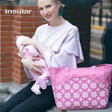Hot Sale Insular Baby Dipper Bag Large Capacity Nappy Bag Women Messenger Bag Mommy Bag For Strollers Free Shipping