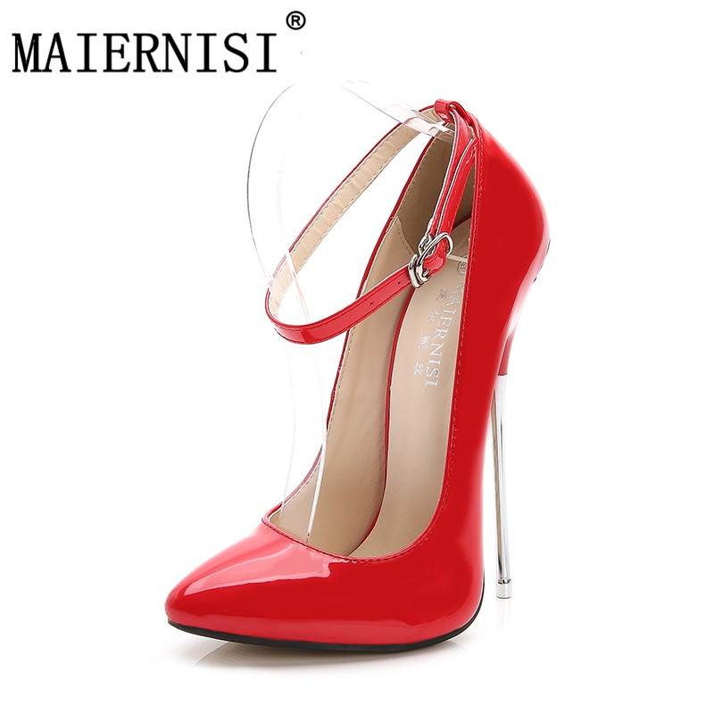633c5844b6 Brand Women 16 cm Extreme High Plus Size Sexy Fetish High Heel Pumps Thin  Heels Pumps Scarpin Valentine Luxury Shoes