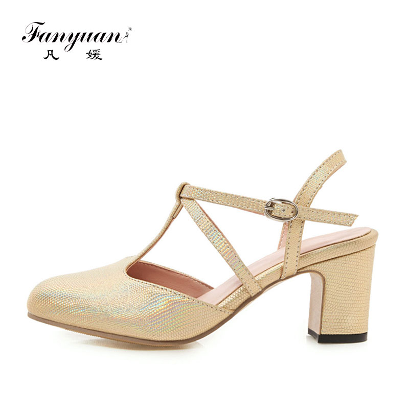 Fanyuan Fashion Narrow Band Slingbacks Pumps Women Shoes Casual Buckle Strap High heels Concise Solid Shoes