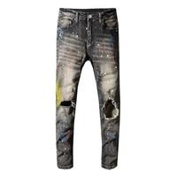 Men Jeans Pants Designer Men High Quality Ripped Jeans For Men Biker Jeans Hip hop Fashion Slim Fit Skinny Black Jeans Men