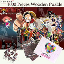 MOMEMO ONE PIECE Puzzles 1000 Pieces Adults Wooden Jigsaw Puzzles 1000 Pieces Puzzle Games Education Wooden Toy for Childen Gift puzzle therapist one a day sudoku for the utterly obsessed large print puzzles for adults