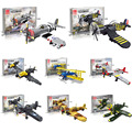 New Arrival World War 2 Classic Aircraft BF-109/PT-17/ P-51 Spitfire Fighter Vehicle Military Building Block Toy For Boys Toys