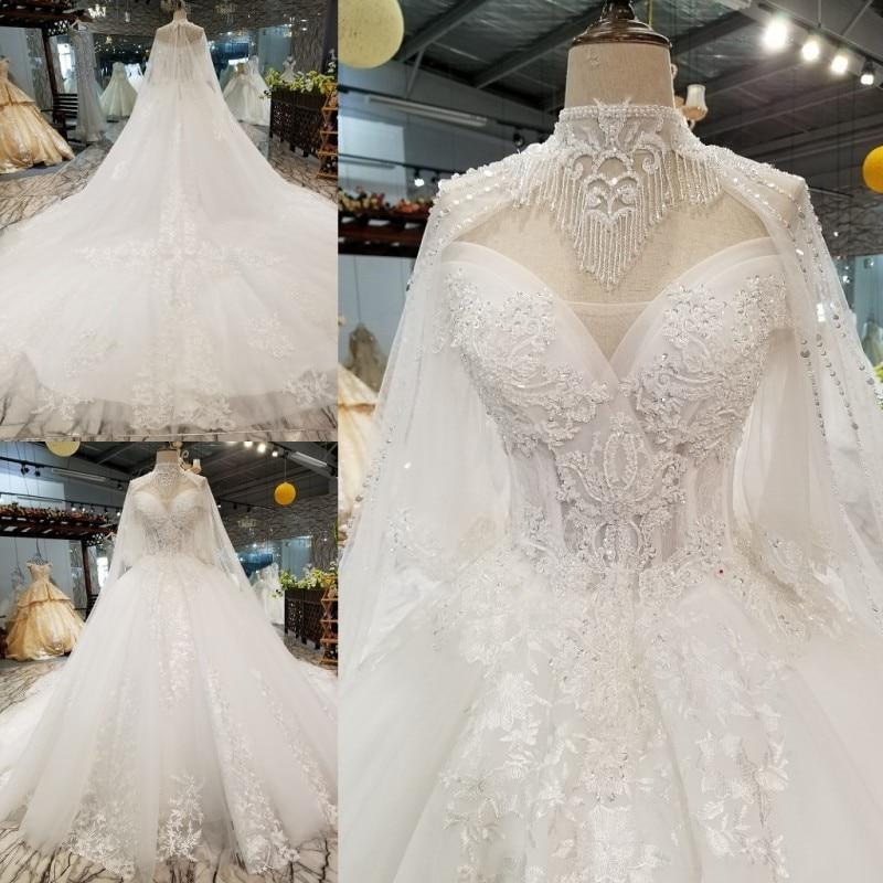 Backlakegirls 2018 New Pattern 3d-appliques Lace Wedding Dress Elegant  Tassel Cathedral Train Ball Gowns e1655782839c