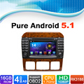 Android 5.1 navegación del coche DVD GPS para mercedes-benz Clase S S500 S600 S280 S320 S350 S400 S420 S430 w220 W215 (1998-2005)
