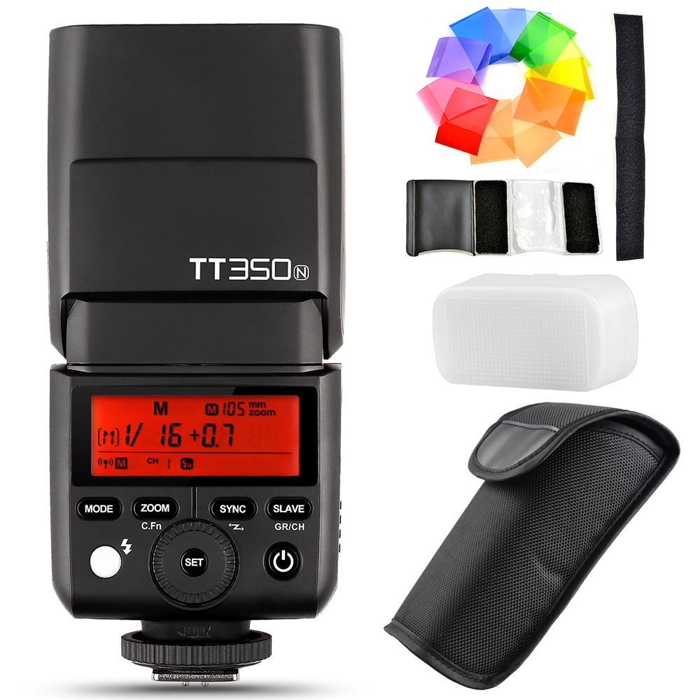 Godox TT350N Speedlite Flash TTL HSS 1/8000s for Nikon D750 D7000 D7100 D7200 D5100 D5200 D5000 D300 D300S D3200 D3100 D200 D800 kf590ex n i ttl high speed light flash professional speedlite for nikon d7100 d7000 d5200 d5100 d5000 d3000 d3100 d300 dslr page 6