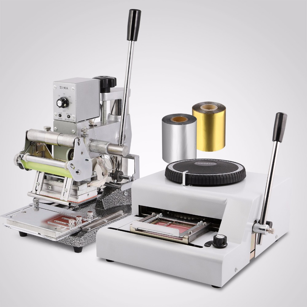Updated 72 Character Code Embosser /Embossing & Hot Foil Stamping Tipper Machine PVC Card Making