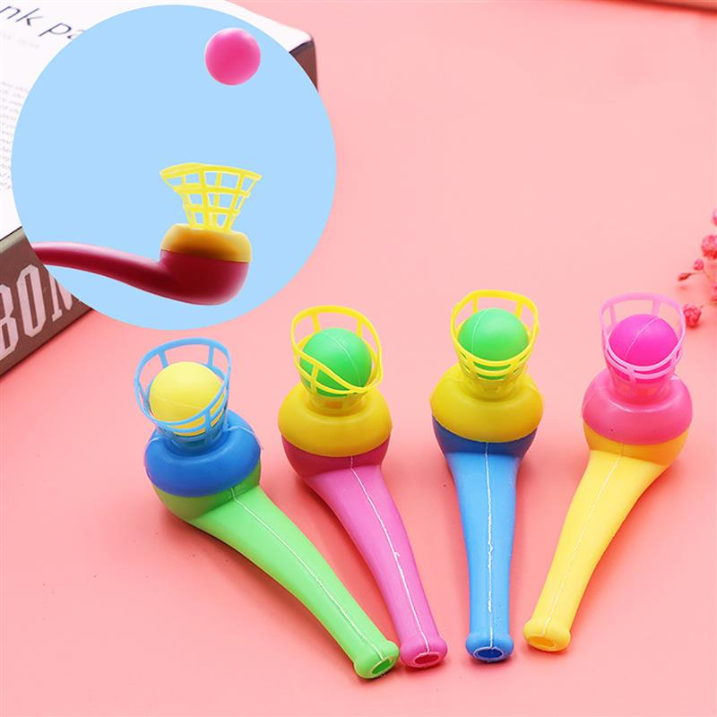 FunPa 12PCS Pipe Ball Party Gifts Colorful Magic Blowing Pipe Floating Ball Children Toys Party Favors Birthday Present for Kids