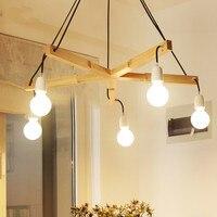 Moderna sala de jantar lustre personalidade criativa designer quarto lâmpada nordic log arte sala estar lâmpada lm6051538py