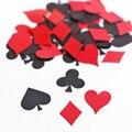 C13 Confetti-Naipe Poker Juego de Corazones de Diamantes-clubes-Picas-Noche de Juegos-Alice in Wonderland party decoration