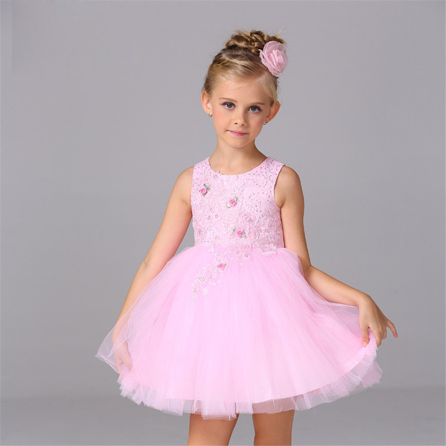 baby girl summer dress up costume for kids pink princess girls dance dresses for girls age 11 to 2 children clothing NQ137