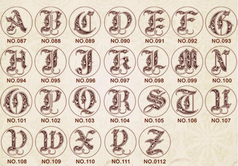Wax Stamp Copper head Curlicue 26 Letters DIY Scrapbooking Vintage wax sealing stamp wedding/party invitation/envelop gift seal 1 design laser cut white elegant pattern west cowboy style vintage wedding invitations card kit blank paper printing invitation